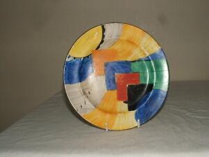 SUSIE COOPER 4 GRAYS ART DECO  CUBIST PLATE AS FOUND