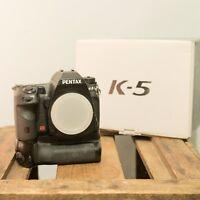 Pentax K K-5 16.3MP Digital SLR Camera - Black (Body only) W/ Battery Grip