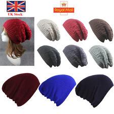 Mens Women Winter Beanie Hat Warm Oversized Slouch Beanie Hat Cap Skateboard UK