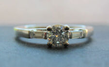 Natural Not Enhanced White Gold Diamond Fine Rings