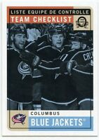 17/18 O-PEE-CHEE OPC RETRO TEAM CHECKLIST #569 COLUMBUS BLUE JACKETS *39525