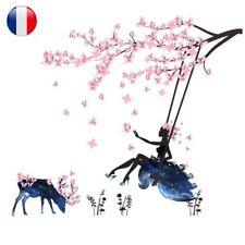 Set Sticker Mural Autocollant Fleur Fée Paysage Décoration Chambre Salon Enfants