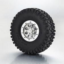 "TFL 116mm Tires With CNC 1.9"" Beadlock 8 holes Wheels 2 Pcs For 1/10 RC Crawler"