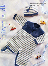 baby boys romper suit and hat dk knitting pattern 105