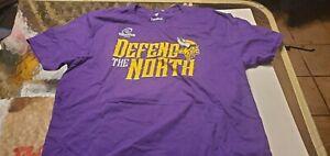 Minnesota Vikings 2019 Playoff  NFL Team Apparel  shirt by Fanatics L purple