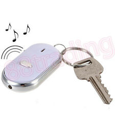 WHISTLE KEY FINDER LOCATER KEYCHAIN TO FIND LOST KEY VIA FLASHING BEEPING
