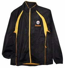 Pittsburgh Steelers NFL Reebok Black Jacket With Gold ZIPPER Men s M cac08fbd2