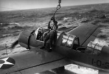 WW2  Photo WWII USS Arizona OS2U  Kingfisher Scout Plane  World War Two / 5329