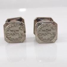 Rite Masonic Mens Cuff Links Qxl4 Vintage Aasr Valley of New Castle Scottish