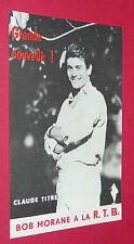 MARABOUT JUNIOR FLYER BOB MORANE CLAUDE TITRE R.T.B. 1965 HENRI VERNES BILL