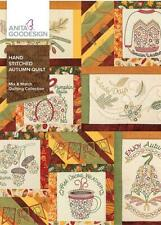 Hand Stitched Autumn Quilt Anita Goodesign Embroidery Design Machine CD