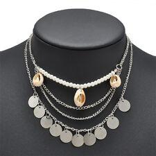 New Charm Chain Pendant Jewelry Chunky Statement Women's Necklace Bib Choker Hot