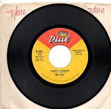 JOE TEX disco 45 giri TAKIN' A CHANCE + GIVE THE BABY ANYTHING stampa AMERICANA