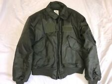 US Army NOMEX Pilot's Jacket FLYER'S COLD WEATHER CWU 45/P BY ALPHA IND X-LARGE
