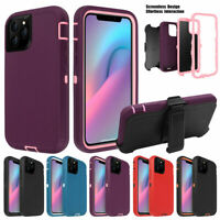For iPhone 11 / Pro / Max Shockproof Armor Case Cover Belt Clip Fits Otterbox