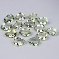 Wholesale Lot of 3x5mm Pear Faceted Cut - Natural Green AMETHYST Loose Gemstone