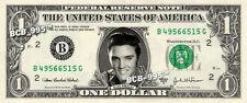 ELVIS PRESLEY on REAL Dollar Bill Cash Money Bank Note Currency Celebrity Dinero