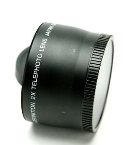 High Definition 2,0x Digital Video Telephoto Lens With 58mm Thread. Japan. Clean
