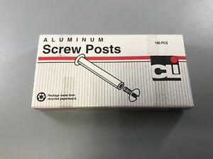 """CLI 3701L ALUMINUM SCREW POSTS, 1/4"""" LENGTH, (100 BOX)"""