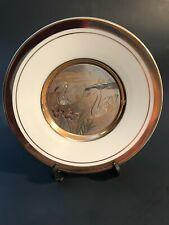 """Art of Chokin 6 """" 24K Gold plate Japan Plate 24 kt gold rim"""