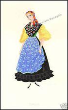 SERIGRAFIA ORIGINALE 1900 FAINI COSTUME EMILIA