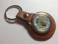U.S. Navy 'Military Sealift Command' ,Leather  Key Ring