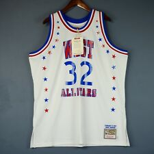 100% Authentic Magic Johnson Mitchell Ness 1983 All Star Game Jersey Size 52 2XL