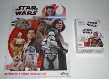 TOPPS Star Wars Sticker gli ultimi cavalieri Jedi-album + 1 x display/30 Sacchetti