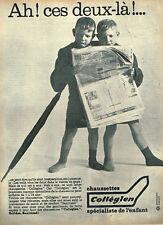 H- Publicité Advertising 1961 Les Chaussettes Collégien