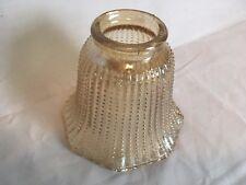 Vintage Amber Iridescent Beaded Glass Globe Light Lamp Shade Ceiling Fan