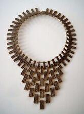 Traumhaftes Art Deco Granat Collier Kette 900er Silber vergoldet 2012 Steine