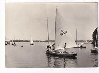 uralte AK Goyatz am Schwielochsee Segelboote 1971 //33