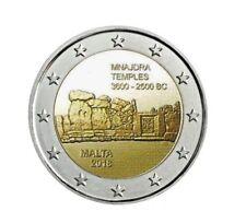 manueduc  2  EUROS  MALTA  2018  TEMPLOS DE MNAJDRA  Conmemorativa  Nueva