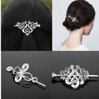 Celtics Knots Crown Hairpins Jewelry Vintage Women Girl Hair Clips Slide Stick