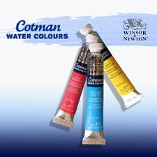 WINSOR & NEWTON - COTMAN WATERCOLOURS - 8ml TUBES - 40 COLOURS - FREE UK POST
