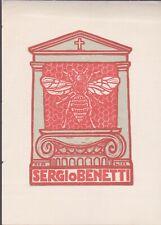 ex-libris sergio benetti  (xilografia) Abeille