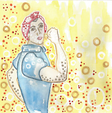 ROSIE the RIVETER art paintings reinvisioned World War II feminism feminist ebay