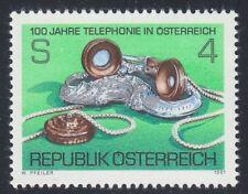 Austria 1981 MNH Mi 1672 Sc 1179 Telephone Service Centenary