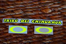 VALENTINO ROSSI Helmet visor decal sticker 1 tribù dei chihuahua + 2 oakley
