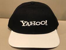 YAHOO BLACK  Structured White Purple Baseball COOL Golf Bar Pub Hat Cap  _ NEW