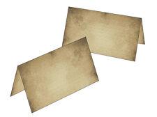 50 Tischkarten altes Papier Namenskarten Geschenkanhänger antik rustikal Feier