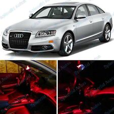 Brilliant Red Interior LED Package For Audi A6/S6 C6 2005-2012 (12 Pieces) #493