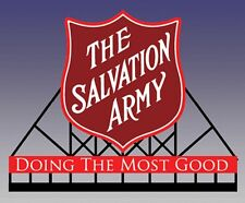 Salvation Army Animated Sign #6282 N Scale Miller Engineering New!