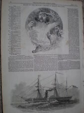 USA Steam ship SS Washington 1847 old print and article ref S