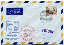 FFC 1972 Lufthansa Volo Speciale Sport Olimpiadi Monaco Atene Grecia