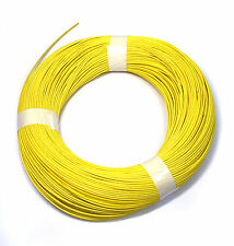 5x1m φ 5mm Silicon Fiber Glass Insulated Tube Sleeve UL 1500V VW-1 180℃ Yellow