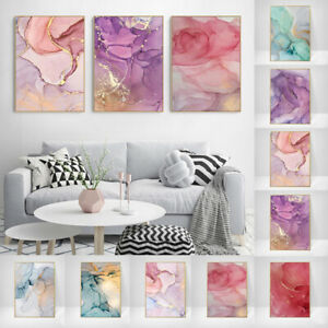 Marble Texture Canvas Poster Abstract Nordic Wall Art Print Home/Bedroom Decor