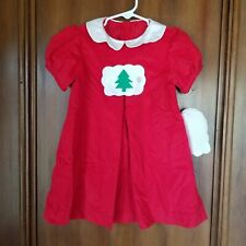 NEW 4T Funtasia Too - Christmas Red & White Corduroy Dress - Changeable Design