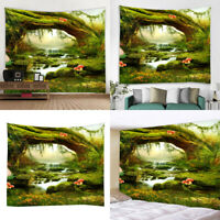 Printed Wall Hanging Tapestry Window Curtains Picnic Mat 95 x 73 cm