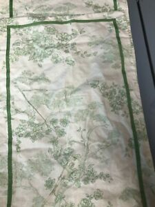 Table Runner Green Toile Botanical natural Print Table Scape 16X 104